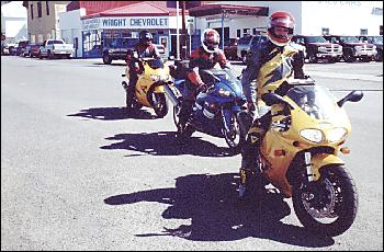 Picture of 3 motorcycle riders.